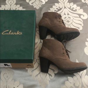 Clark's suede very confortable booties. Wore twice